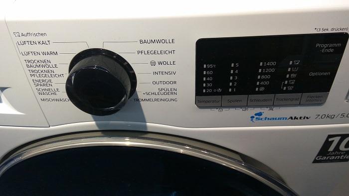 Waschtrockner- Waschmaschine und Trockner in einem